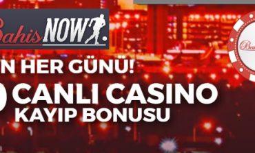 Bahisnow Canlı Casino Kayıp Bonusu Veriyor!
