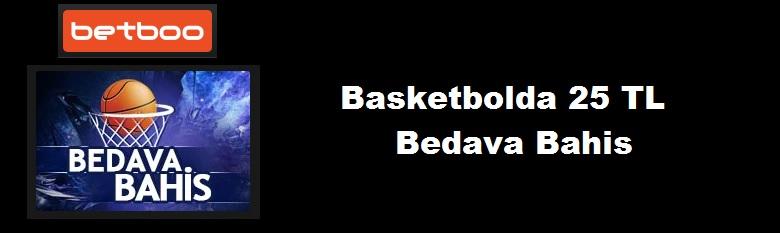 Betboo Basketbolda 25 TL Bedava Bahis