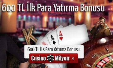 Casinomilyon Casino Hoşgeldin Bonusu