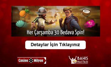 Casinomilyon Bedava 30 Dönüş Bonusu