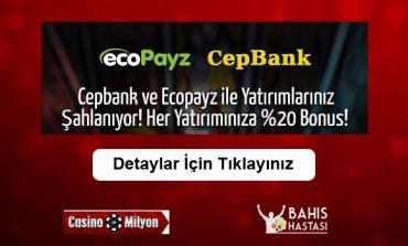 Casinomilyon Cepbank ve Ecopayz Bonusu