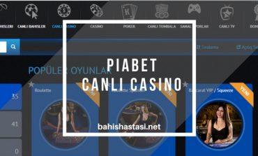 Piabet Canlı Casino