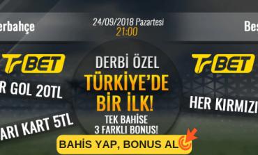 Trbet Fenerbahçe-Beşiktaş Derbi Özel, Tek Kuponda 3 Farklı Bahis Oyna!
