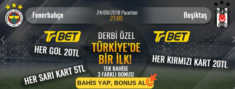 Trbet Fenerbahçe - Beşiktaş Derbi Bahis bonus
